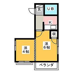 三番町Aビル[4階]の間取り