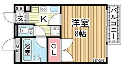 イースト神戸本山[4階]の間取り