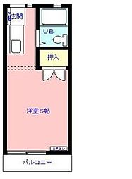 ドリーミィ幕張[2階]の間取り