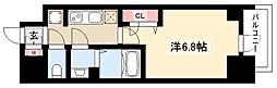プレサンス名古屋幅下ファビュラス 10階1Kの間取り