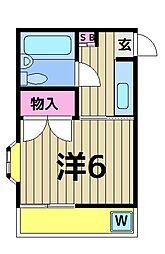 東和やなぎホーム[2階]の間取り