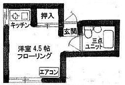 東京都豊島区上池袋4丁目の賃貸アパートの間取り