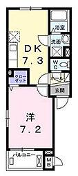東京都世田谷区代田3丁目の賃貸アパートの間取り