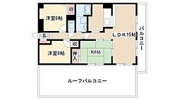 愛知県名古屋市南区星崎2丁目の賃貸マンションの間取り