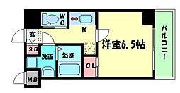 Osaka Metro中央線 阿波座駅 徒歩7分の賃貸マンション 6階1Kの間取り