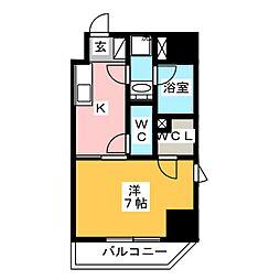 GRAN PASEO 浅草橋 5階1Kの間取り