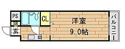 メゾン・ドーム千成[405号室]の間取り