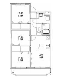 エクレール 3[306号室]の間取り