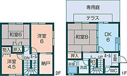 [テラスハウス] 奈良県橿原市久米町 の賃貸【/】の間取り