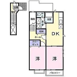 CASA・PATIO[2階]の間取り