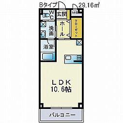 みやまマンションII[116号室]の間取り
