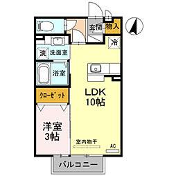 富山県富山市婦中町宮ケ島の賃貸アパートの間取り