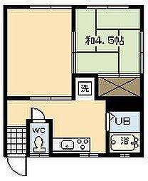 IWASAコーポ[201号室]の間取り