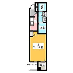 リアン M[3階]の間取り