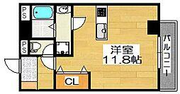 ルフレ堺[5階]の間取り