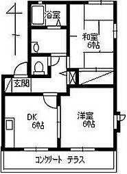 コンフォール石坂[B101号室]の間取り