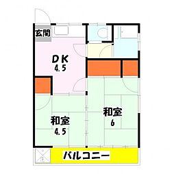 吹塚荘[103号室]の間取り