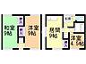 間取り,3DK,面積55.89m2,賃料4.5万円,札幌市営東西線 南郷7丁目駅 徒歩7分,札幌市営東西線 南郷13丁目駅 徒歩17分,北海道札幌市白石区栄通8丁目4-3