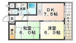 エスパシオ塚口[2階]の間取り