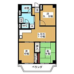 覚王山アーバンライフ[5階]の間取り