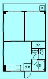 神奈川県川崎市高津区久地1丁目の賃貸マンションの間取り