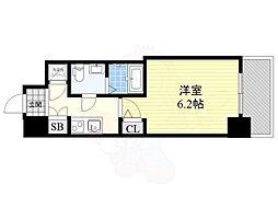 阪神本線 野田駅 徒歩4分の賃貸マンション 11階1Kの間取り