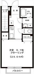 東京都世田谷区上北沢5丁目の賃貸アパートの間取り