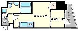 レジデンス難波南 3階1DKの間取り