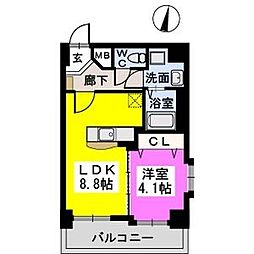メゾンド オハナ 7階1LDKの間取り