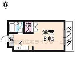 エクセラード京都[201号室]の間取り