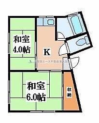 坂下マンション[2階]の間取り