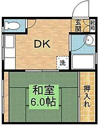 井原コーポ[3階]の間取り