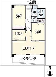 East oak41[1階]の間取り