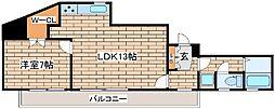 兵庫県神戸市中央区二宮町3丁目の賃貸マンションの間取り