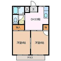 シティハイツ伊藤[2階]の間取り