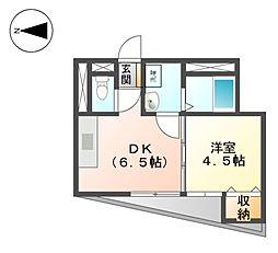 愛知県名古屋市東区東大曽根町の賃貸マンションの間取り