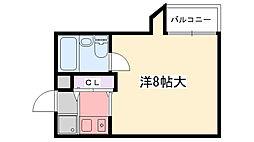 六番館[305号室]の間取り