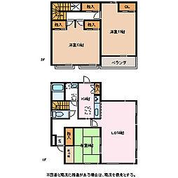 [一戸建] 長野県松本市寿中1丁目 の賃貸【/】の間取り