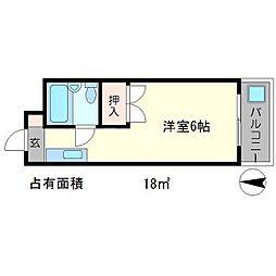 銀閣COZYハイツ[2階]の間取り