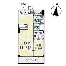 Mハウス2 2階[202号室]の間取り