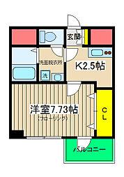 T&A横浜白金[401号室]の間取り