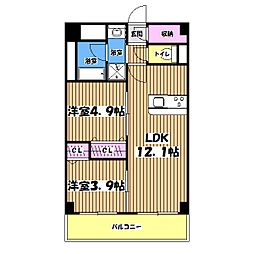 ベルフォーレ武蔵野[1階]の間取り