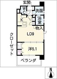グランデュール東桜[8階]の間取り