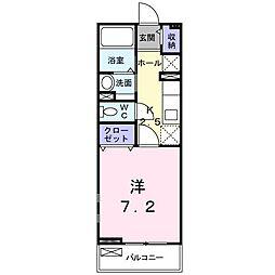 串戸3丁目アパート[0203号室]の間取り