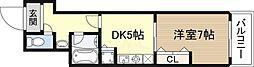 ドムスドイ 5階1DKの間取り