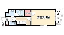 愛知県名古屋市南区鶴見通1丁目の賃貸マンションの間取り