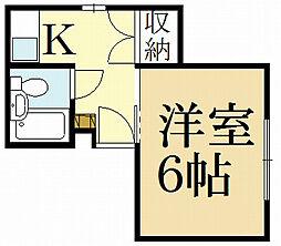 ジョイフルルーム[1階]の間取り