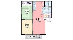 福岡県福岡市西区今宿東1丁目の賃貸アパートの間取り