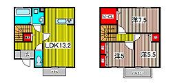 グリーンコーポ3[1階]の間取り