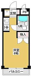 神奈川県相模原市中央区南橋本1丁目の賃貸マンションの間取り